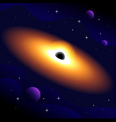Supermassive black hole region spacetime vector