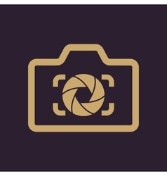 The camera icon photo and diaphragm photographer vector