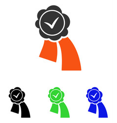 Validation seal flat icon vector