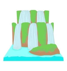 Waterfall icon cartoon style vector image