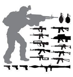 weapon set vector image