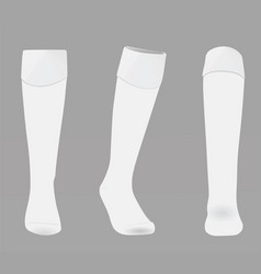 White soccer socks vector