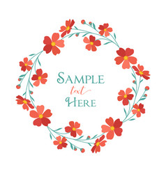 wreath red flowers vector image