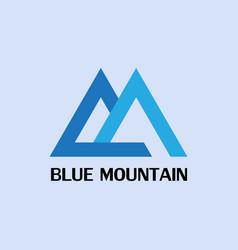 blue mountain logo vector image vector image