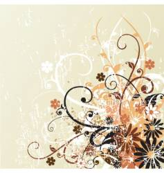 grunge floral design background vector image vector image