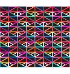 Seamless Dark Isometric Blocks Colorful vector image