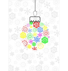 Colorful Christmas ball vector image