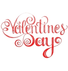 Happy valentines day Lettering design elements vector image vector image
