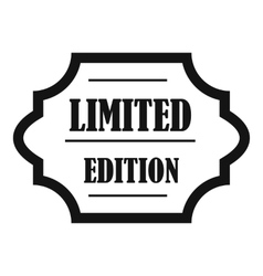 Limited edition icon simple style vector image vector image