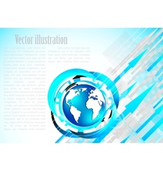 modern earth template vector image vector image