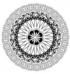 baroque border vector image vector image