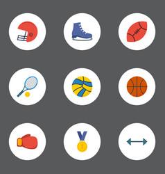 flat icons american football reward rocket and vector image