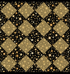 gold and black seamless chess styled vintage vector image vector image