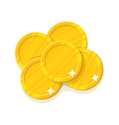 gold coins cartoon style isolated vector image vector image