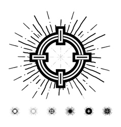 Hipster style vintage aim with starbursts ray vector image vector image