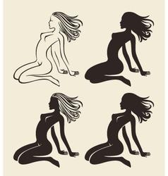 nude girl vector image