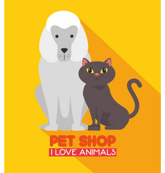 pet shop logo vector image vector image