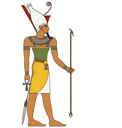 Pharaoh egyptian ancient symbol isolated figure vector image