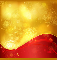 1511013 Gold red Christmas snowflake background vector image vector image
