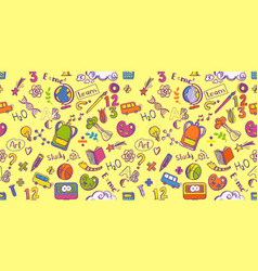 education supplies seamless pattern vector image
