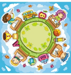 school card vector image vector image