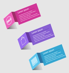 3D origami infographic design template vector image