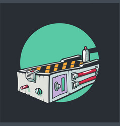 a trap for ghosts isolated vector image