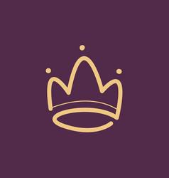 Abstract crown logo design vector