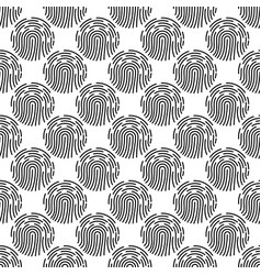 abstract seamless pattern with fingerprint vector image