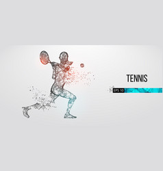 abstract silhouette tennis player woman girl vector image