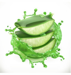 aloe juice health and care 3d icon vector image