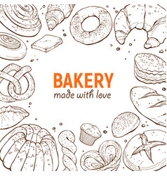 bakery poster template vector image