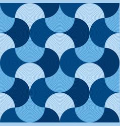 blue geometric wallart seamless motif vector image