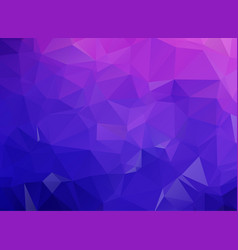 blue purple geometric rumpled triangular low poly vector image