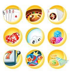 Casino icons vector