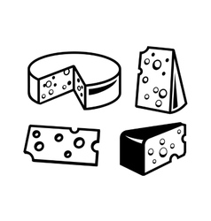 cheeses icon vector image