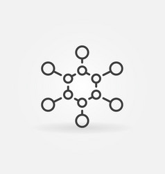 chemical structure linear icon - formula vector image