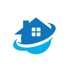 circle home real estate logo vector image