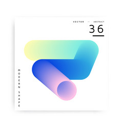 Colorful abstract modern shape vector