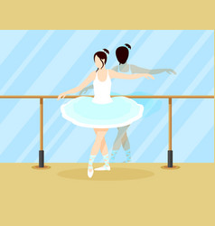 Colorful ballet dancer concept vector
