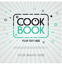 Cover page best cookbook americas best recipes vector