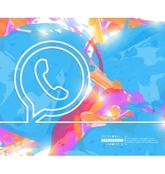 Creative phone Art template vector