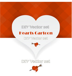 creative valentines day card template vector image