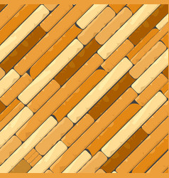 Diagonal brick wall background in brown and creamy vector