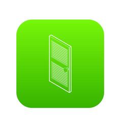 door with horizontal vent icon green vector image