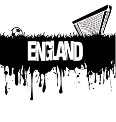 England with a soccer ball and gate vector