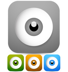eps 10 eye - eyeball icons in four colors vector image
