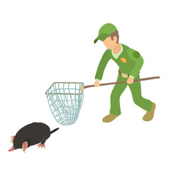 Fighting pests icon isometric style vector