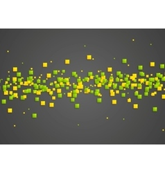 Green and orange squares on dark background vector image