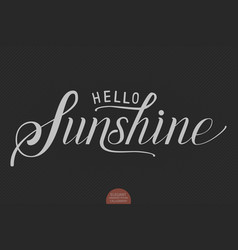 hand drawn lettering hello sunshine vector image